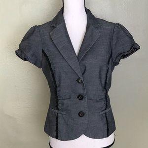Maurices Gray/Black Sleeveless Blazer Top Size L